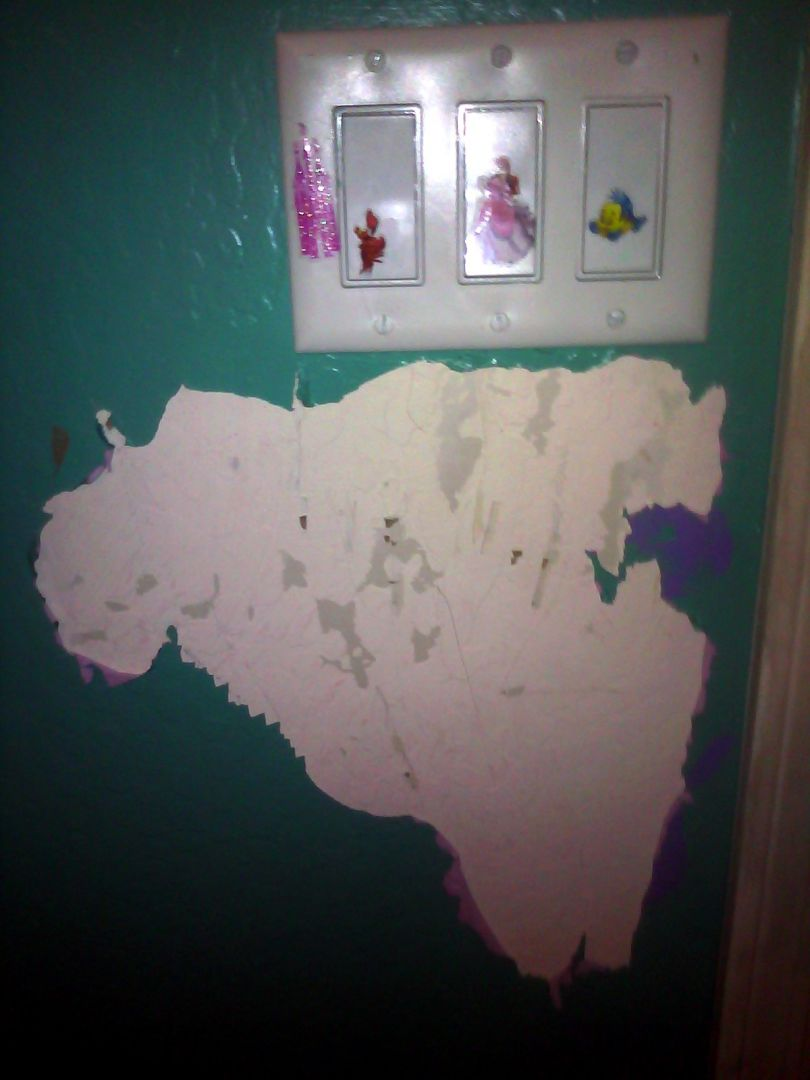 sh t my kids ruined literally peeling paint off the wall. Black Bedroom Furniture Sets. Home Design Ideas